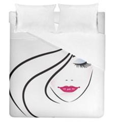 Makeup Face Girl Sweet Duvet Cover (queen Size)