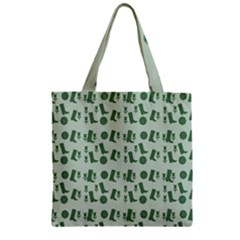 Green Boots Zipper Grocery Tote Bag