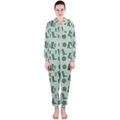 Green Boots Hooded Jumpsuit (ladies)