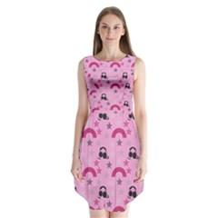 Music Stars Rose Pink Sleeveless Chiffon Dress