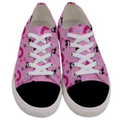 Music Stars Rose Pink Women s Low Top Canvas Sneakers