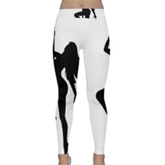 Dance Silhouette Pole Dancing Girl Classic Yoga Leggings