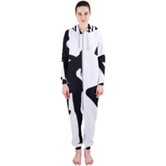 Dance Silhouette Pole Dancing Girl Hooded Jumpsuit (ladies)