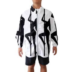 Dance Silhouette Pole Dancing Girl Wind Breaker (kids)