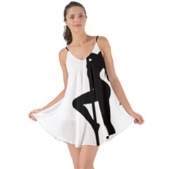 Dance Silhouette Pole Dancing Girl Love The Sun Cover Up