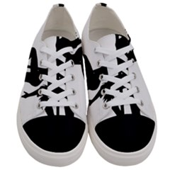 Dance Silhouette Pole Dancing Girl Women s Low Top Canvas Sneakers