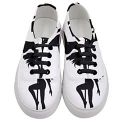 Dance Silhouette Pole Dancing Girl Women s Classic Low Top Sneakers