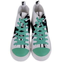 Dance Silhouette Pole Dancing Girl Women s Mid Top Canvas Sneakers