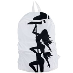 Dance Silhouette Pole Dancing Girl Foldable Lightweight Backpack