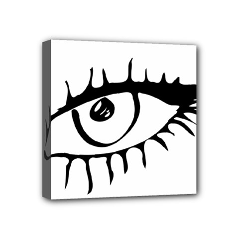 Drawn Eye Transparent Monster Big Mini Canvas 4  X 4
