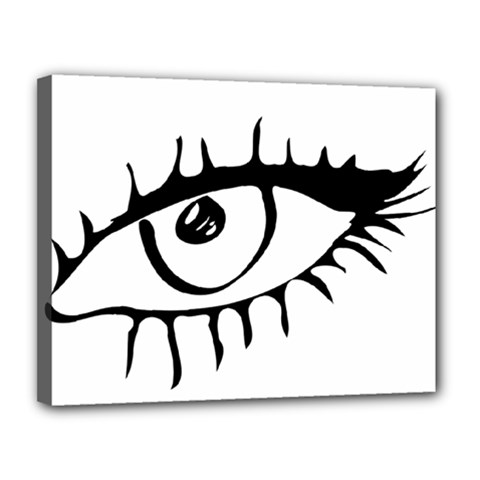 Drawn Eye Transparent Monster Big Canvas 14  X 11