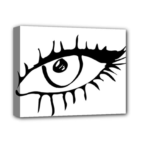 Drawn Eye Transparent Monster Big Deluxe Canvas 14  X 11