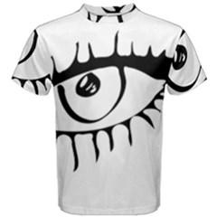Drawn Eye Transparent Monster Big Men s Cotton Tee