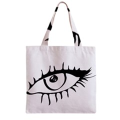 Drawn Eye Transparent Monster Big Grocery Tote Bag