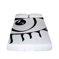 Drawn Eye Transparent Monster Big Fitted Sheet (full/ Double Size)