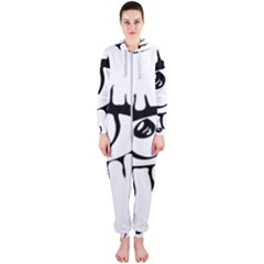 Drawn Eye Transparent Monster Big Hooded Jumpsuit (ladies)