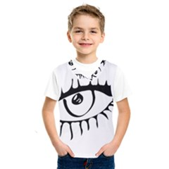 Drawn Eye Transparent Monster Big Kids  Sportswear