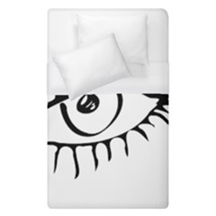Drawn Eye Transparent Monster Big Duvet Cover (single Size)