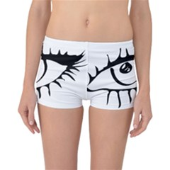 Drawn Eye Transparent Monster Big Reversible Boyleg Bikini Bottoms