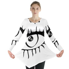 Drawn Eye Transparent Monster Big Long Sleeve Tunic