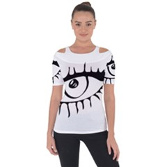 Drawn Eye Transparent Monster Big Short Sleeve Top