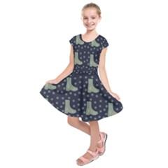 Blue Boots Kids  Short Sleeve Dress