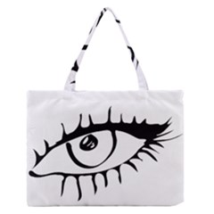 Drawn Eye Transparent Monster Big Zipper Medium Tote Bag