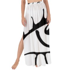 Drawn Eye Transparent Monster Big Maxi Chiffon Tie Up Sarong