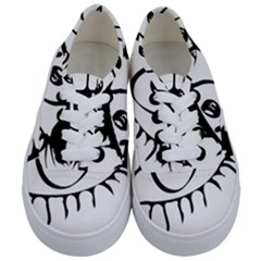 Drawn Eye Transparent Monster Big Kids  Classic Low Top Sneakers