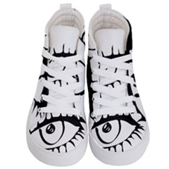 Drawn Eye Transparent Monster Big Kid s Hi Top Skate Sneakers