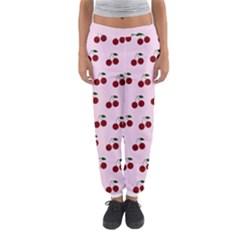 Pink Cherries Women s Jogger Sweatpants