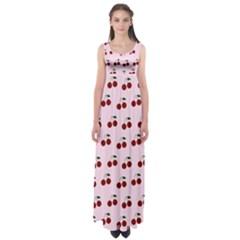 Pink Cherries Empire Waist Maxi Dress