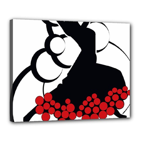 Flamenco Dancer Canvas 20  X 16