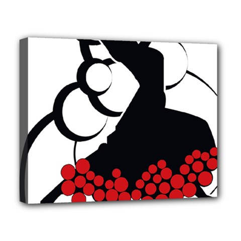 Flamenco Dancer Deluxe Canvas 20  X 16