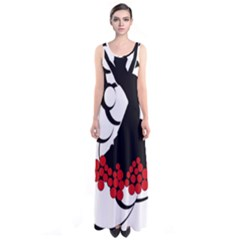 Flamenco Dancer Sleeveless Maxi Dress