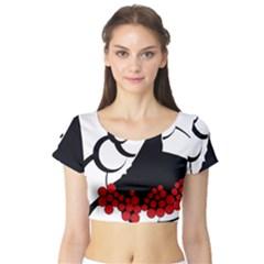 Flamenco Dancer Short Sleeve Crop Top