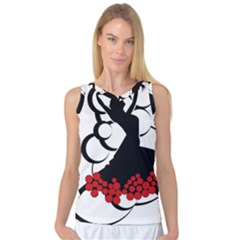 Flamenco Dancer Women s Basketball Tank Top