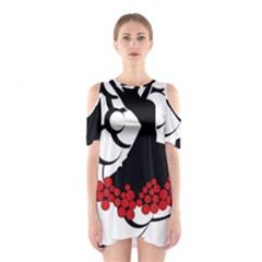 Flamenco Dancer Shoulder Cutout One Piece