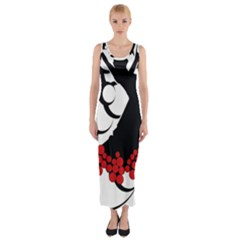 Flamenco Dancer Fitted Maxi Dress