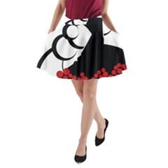 Flamenco Dancer A Line Pocket Skirt