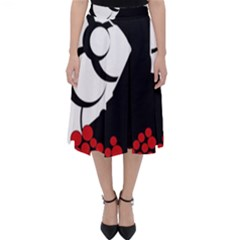Flamenco Dancer Folding Skater Skirt