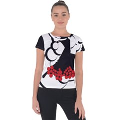 Flamenco Dancer Short Sleeve Sports Top