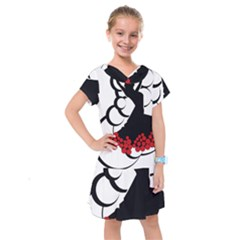 Flamenco Dancer Kids  Drop Waist Dress