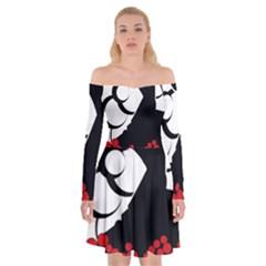 Flamenco Dancer Off Shoulder Skater Dress