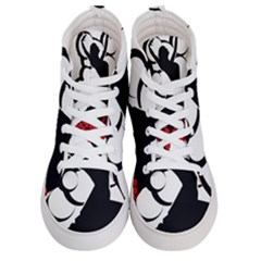 Flamenco Dancer Women s Hi Top Skate Sneakers