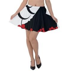 Flamenco Dancer Velvet Skater Skirt