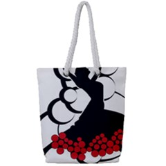 Flamenco Dancer Full Print Rope Handle Tote (small)