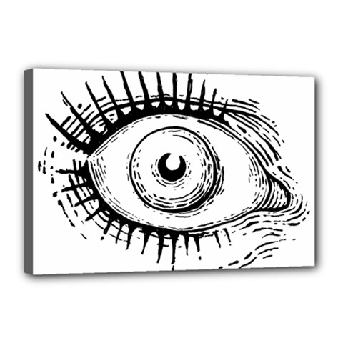 Big Eye Monster Canvas 18  X 12