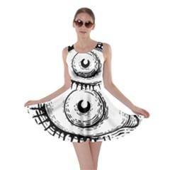 Big Eye Monster Skater Dress