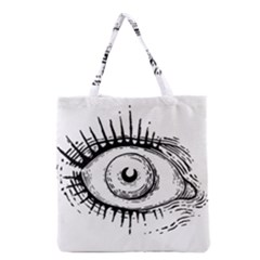 Big Eye Monster Grocery Tote Bag